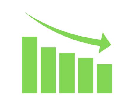 簡單降序圖形圖標:綠色