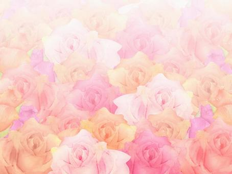 Watercolor photo-booth of hand-painted roses