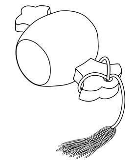 打ち出の小槌  小槌  シルエット 2