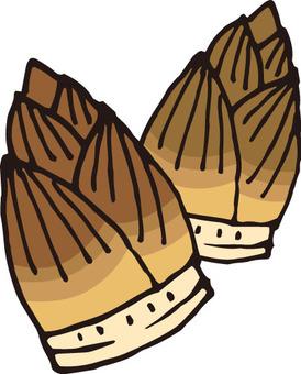 산채 (죽순 2 개)