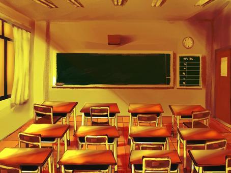 Loose classroom scenery / evening