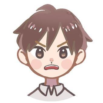 男孩A_憤怒的臉