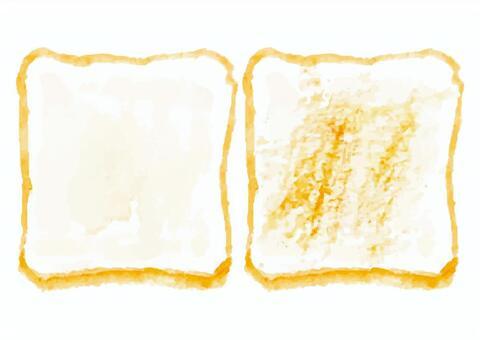 """""""水彩風格""""麵包2"""