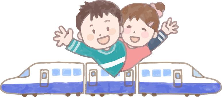 乘坐新幹線(情侶)