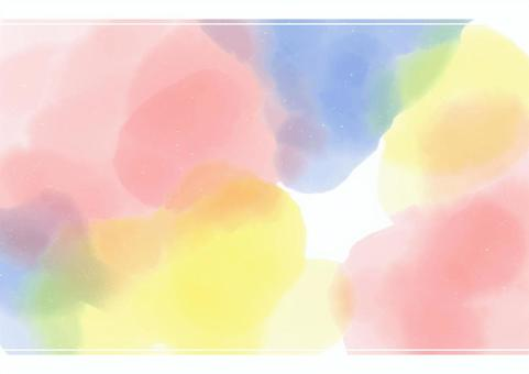 Background material with beautiful bleeding like watercolors