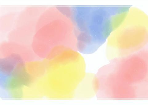 背景材料像水彩畫一樣流淌著美麗的光芒