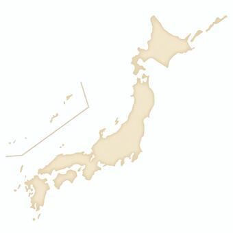 復古的日本地圖_米色