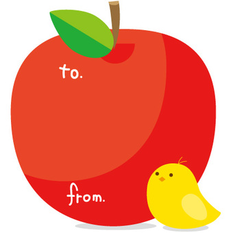 一個蘋果和一隻鳥