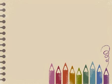 彩色鉛筆和寫生