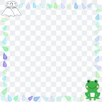 青蛙Teru Teru Bozu和雨滴