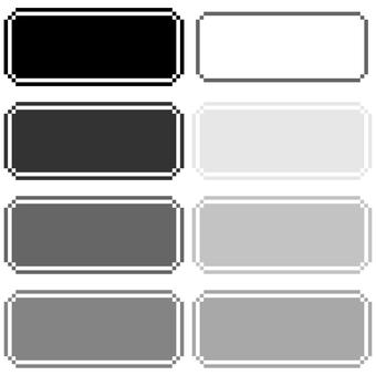 レトロゲーム風ウィンドウのドット絵(黒)