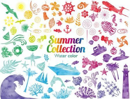 L-0218:夏季水彩畫套裝