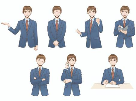 Business pose collection male part