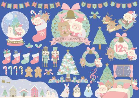 [Png is transparent] Pastel Christmas set