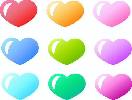 9光澤的心
