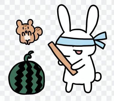 兔子劈西瓜