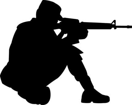 軍人   兵隊 シルエット