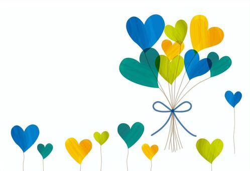 心臟花束藍色