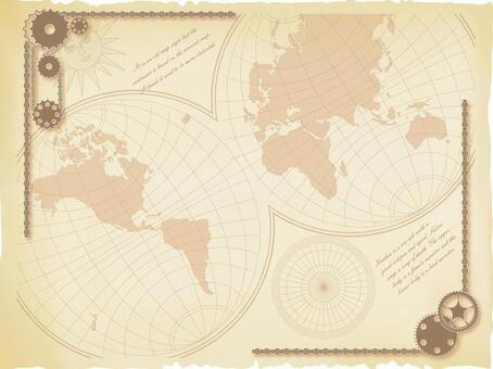 Old map frame