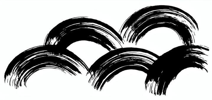 青海波刷圖書法