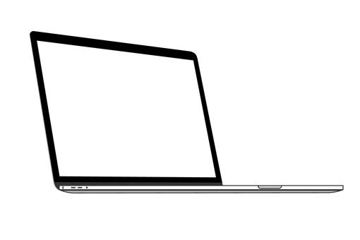 筆記本電腦剪影時尚