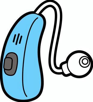 助聽器_淺藍色