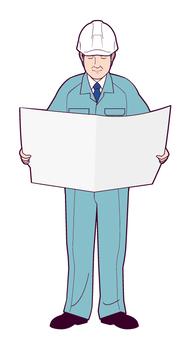 一名工作人員閱讀報紙