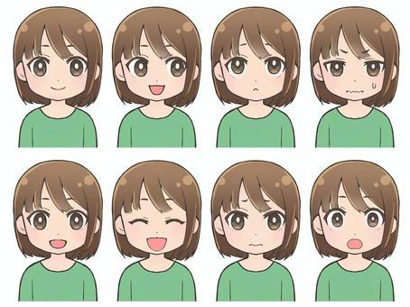 女性表情4