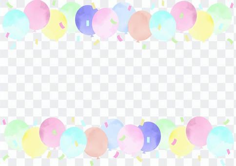 水彩氣球框架多彩