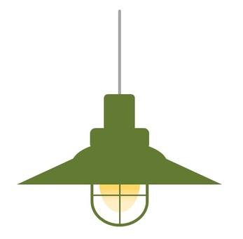 Pendant light A green
