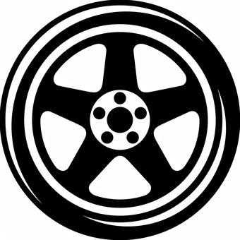 汽車輪胎輪子剪影