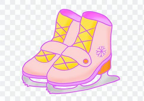 粉色溜冰鞋