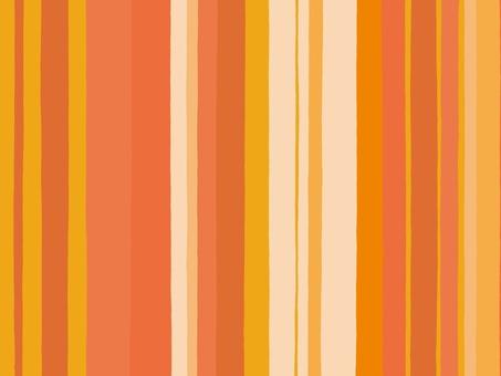 橙色的不同寬度的手寫條紋