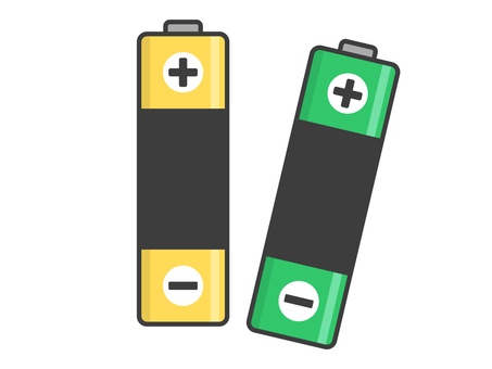 Illustration of batteries