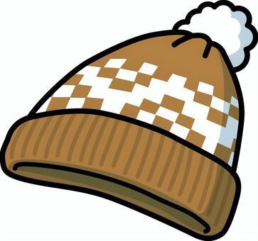 針織帽2(棕色)