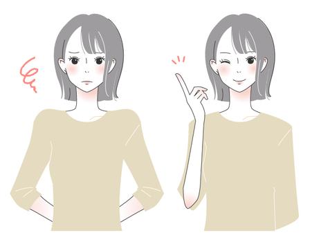 成人girl_black bob hair girl