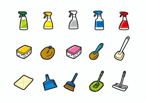 卓越的清潔工具套裝清潔劑