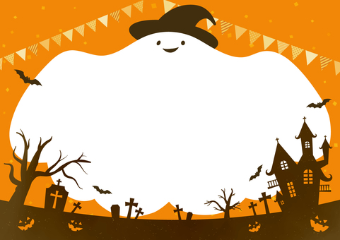 Halloween background material that can be used for leaflets, etc. 2