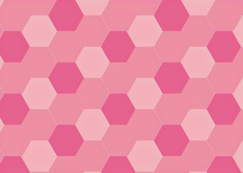 ピンクの六角形素材