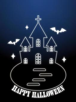 Halloween Western-style bat poster