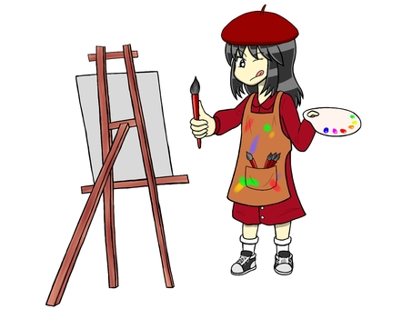 Girl aiming to be a painter