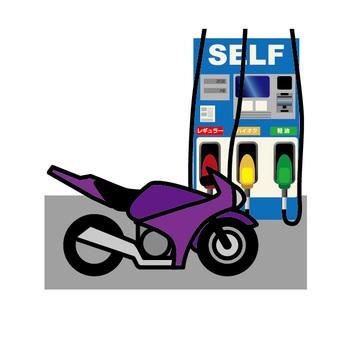 加油站和自行车