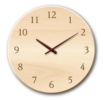 壁鐘(木製)