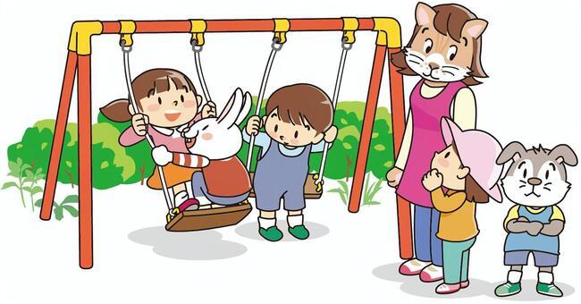 Swing in kindergarten