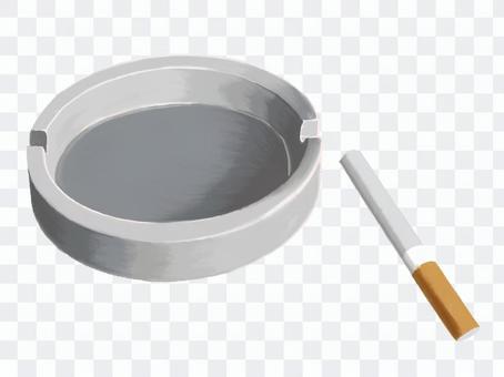 煙草和煙灰缸