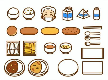 午餐菜單的插圖集